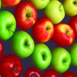 Apples: Red delicious, Granny smith, Royal gala