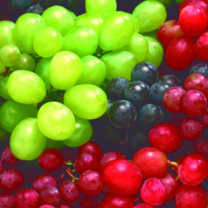 Grapes: Imperial seedless, Flame seedless, Red gobe